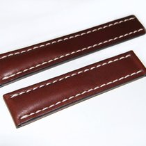Breitling Kalbslederband für Faltschließe Dunkelbraun 22-20 mm