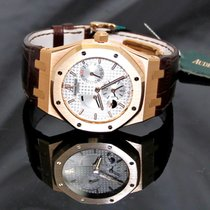 Audemars Piguet Royal Oak Dual Time in Rose Gold Silver Dial