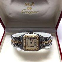 Cartier Panthére 2 Tone Ladies Watch Diamonds & Gold Dial...