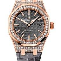 Audemars Piguet Royal Oak 18K Pink Gold & Diamond Ladies...