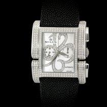 Milus Apiana Stainless Steel and Pave Diamonds Chronograph