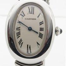 Cartier Baignoire Solid 18k White Gold Ladies Quartz Watch