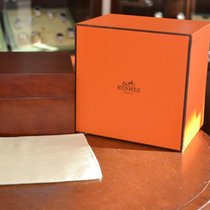 Hermès Luxury Wooden Box . Approx 1515cm. With Outer Box And...