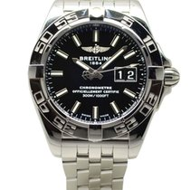 Breitling Galactic 41 Steel Automatic 41mm Black Dial A49350L2...