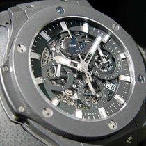 Hublot Big Bang Aero Bang Black Ceramic Bezel Skeleton Dial...