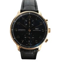 IWC Portugaise Rose Gold  Black Dial Full Set