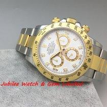 Rolex 116523G Daytona Gold & Steel White Diamond M serial