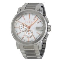 Gucci G-Chrono Chronograph Silver Dial Mens Watch YA101201