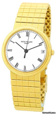 Patek Philippe Gent&amp;#39;s 18K Yellow Gold  Ref # 3802 Calatrava