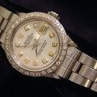 Rolex Datejust Date Ss Watch W/white Mop Diamond Dial/bzl 6916
