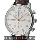IWC Portuguese Collection Chronograph Steel Silver Arabic Dial...