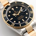 Ρολεξ (Rolex) 18K/SS Submariner Black Dial 16613 Model - No...