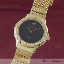 Hublot Lady Mdm 18k (0,750) Gold Damenuhr Black Dial Klassiker...