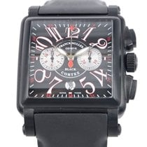 Franck Muller New  Conquistador Stainless Steel Black Automati...