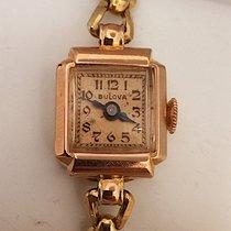 Bulova Elegant Ladies Antique Bulova Watch  14k Karat Rose...