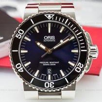 Oris 01 733 7653 4135-07 Aquis Date Blue Dial SS / SS (25093)