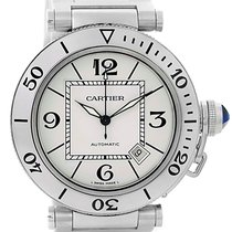 Cartier Pasha Seatimer Steel Silver Dial Mens Watch W31080m7...