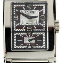 Rolex Mens Rolex 18k White Gold Cellini Prince Watch On Strap...