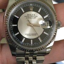 Rolex 116234 36mm Ss/wg Perpetual Datejust Black/silver Tuxedo...