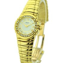 Piaget Tanagra Ladys Yellow Gold - Diamond Bezel - White Roman...