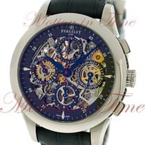 Perrelet Chronograph Dual Time, Skeleton Dial - Stainless...