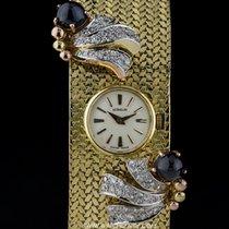 Gübelin 18k Y/G Diamond & Sapphire Set Vintage Cocktail...