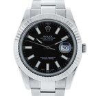 Rolex Datejust II 116334 Steel Oyster Black Dial Watch