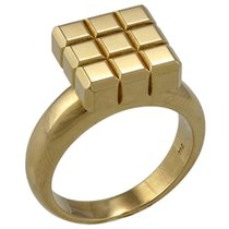 Chopard 18K Yellow Gold Ice Cube Ring 823639-0110