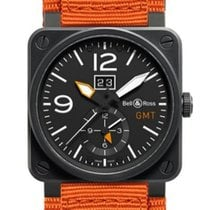 Bell & Ross Aviation Men's Watch BR0351-GMT-CA