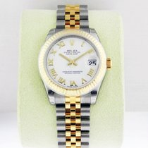 Rolex Datejust 31mm Steel & 18K Yellow Gold White Roman 2016