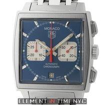 TAG Heuer Monaco Steve McQueen Chronograph Steel 38mm Blue...
