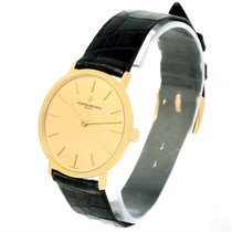 Vacheron Constantin 18k Yellow Gold Ultra Thin Watch 37039 Box...