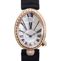 Breguet Reine De Naples 18k Gold Diamond White Automatic...