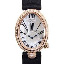 Breguet Reine De Naples 18k Gold Diamond White Automatic...