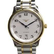 Longines Master 18k Gold Steel Silver Automatic L2.628.5.78.7