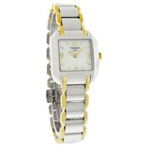 Tissot T-Wave Ladies Mop Dial Two Tone Swiss Quartz Watch...