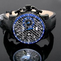 Graham Silverstone Stowe GMT Steel PVD Carbon Dial and Bezel Blue