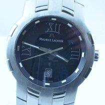 Maurice Lacroix Milestone Herren Uhr 42mm Stahl/stahl Rar Quartz