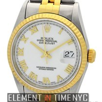Rolex Datejust Steel & Gold 36mm White Roman Dial T Series...