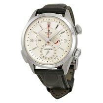 Tudor Heritage Advisor Cream Dial Black Leather Men's Watch