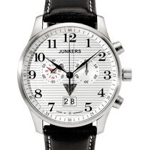 Junkers Iron Annie Ju52 Quartz Chrono Watch Big Date 42mm Case...