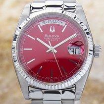 Bulova Super Seville Day Date S. Steel Automatic Watch...