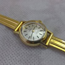Omega 14ct golden vintage Geneve with box, serviced