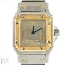 Cartier Uhr Santos Edelstahl / Gold Sonderzifferblatt Damen...
