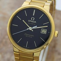 Omega Seamaster DeVille Quartz 1980s Gold Plated Men's...