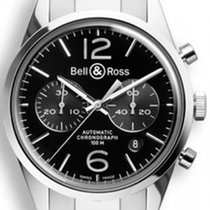 Bell & Ross BR 126 Officer Black  NEU mit Box + Papieren