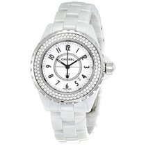Chanel J12 Diamond White Ceramic Ladies Watch