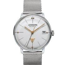 Junkers Bauhaus Lady Swiss Quartz Watch Mesh Strap Swarovski...