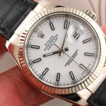 Rolex 116139 Oyster Perpetual Datejust 18K White Gold Men...