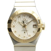 Omega Constellation Gold And Steel White Automatic 123.20.27.2...